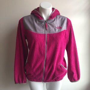 North Face Pink Magenta Zip Up Fleece